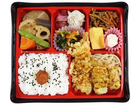 天ぷら盛合わせの幕の内弁当